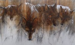 Sawthooth Wolves 36X72