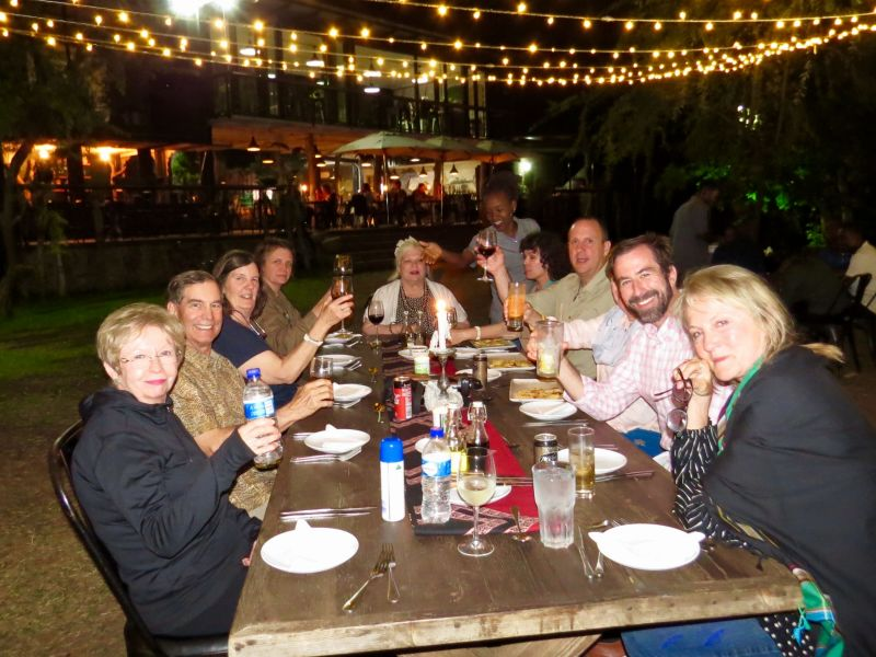 Our last night in Victoria Falls we had a beautiful dinner overlooking the mighty Zambezi River