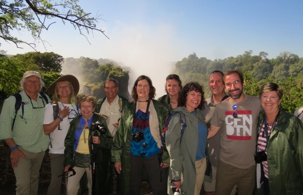 In May the Zambezi is at full flow and we were lucky enough to have the wind blowing the mist and the other direction fora  moment
