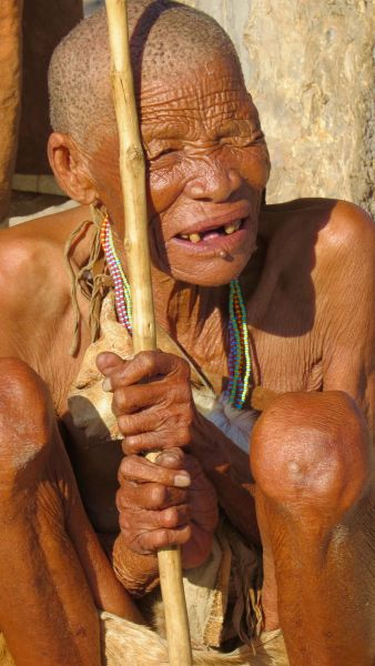 This old bushmen woman has many stories to tell I'm sure