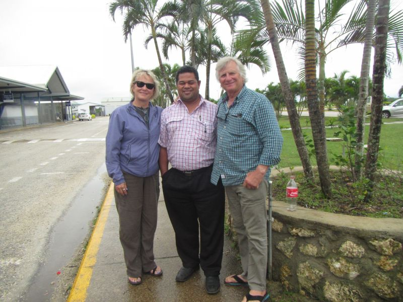 In Tongapatu ,The main island, our cab driver turned out to be on the Tongan education board.
