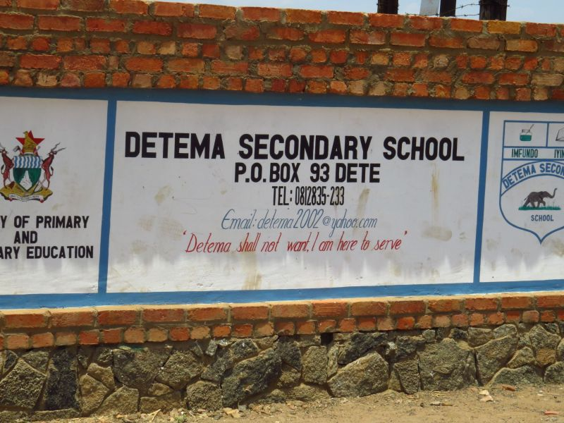 Our second location was DETEMA school on the northern edge of Hwange Park