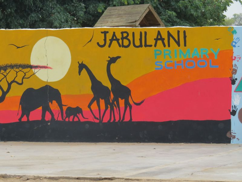 Jabulani school was started 10 years ago by a woman  teaching three kids in a tent!