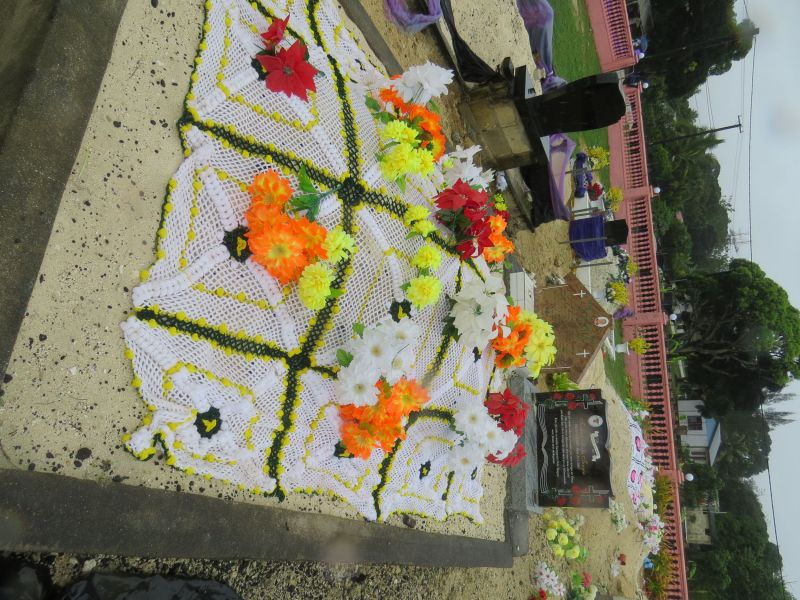 The Tongan people honor their dead with decorated graves