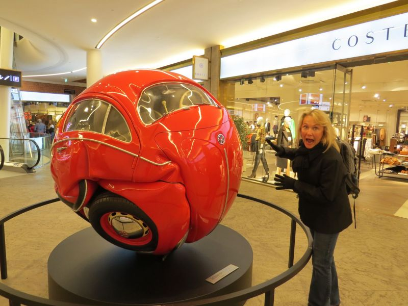 I'm not sure how they got this Volkswagen into a ball but it was quite cool