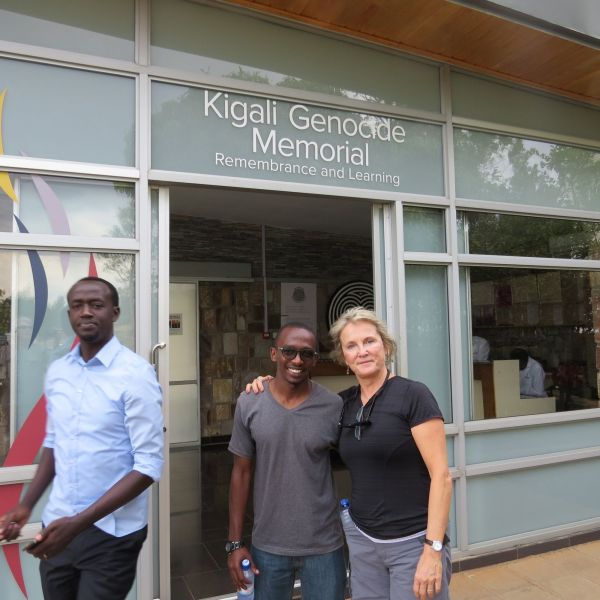 Visiting the Rwanda genocide museum in Kigali,with our friend Jean Claude. One of the most emotionally moving museums we have ever encountered.