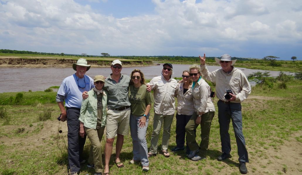 A last look at the Mara River crossing with Paul Tickner, our friend and guide