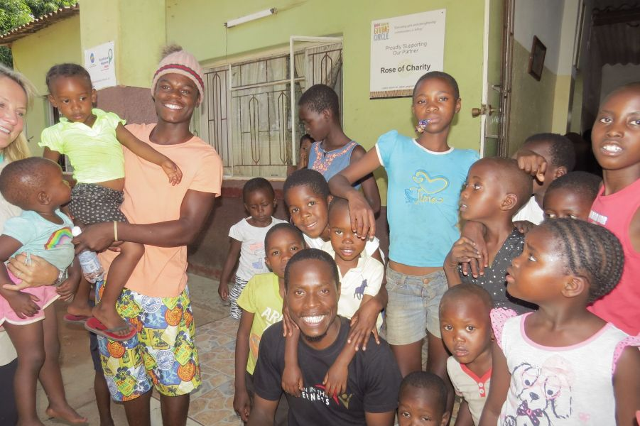 It's always fun to visit the kids at the orphanage- they are also upbeat and happy- despite their hard circumstances