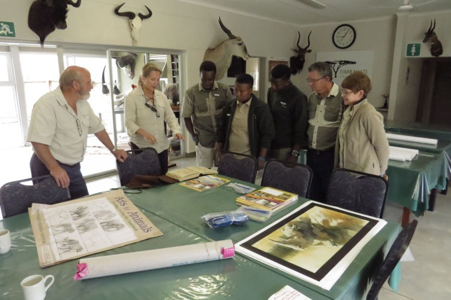 At Timbavati, We're working with the teachers and staff at Timbavati to develop an art component to their conservation education programs