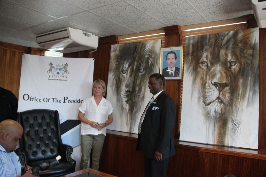 Meeting with the president of Botswana