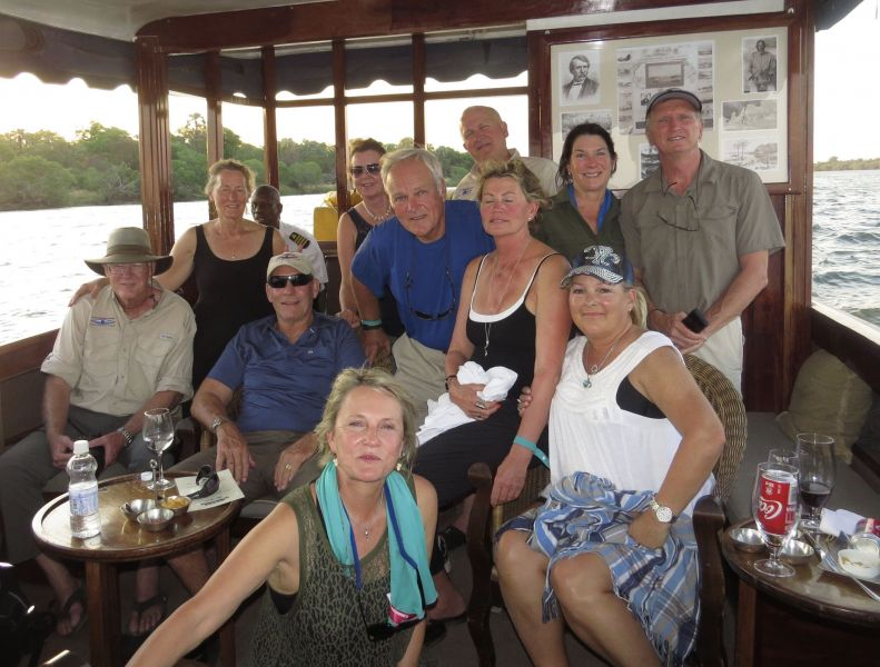 Cruising with our friends down the Zambezi