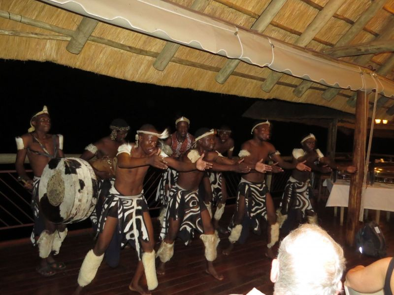 Our last night in Victoria Falls, a private dinner of African delicacies with dancers