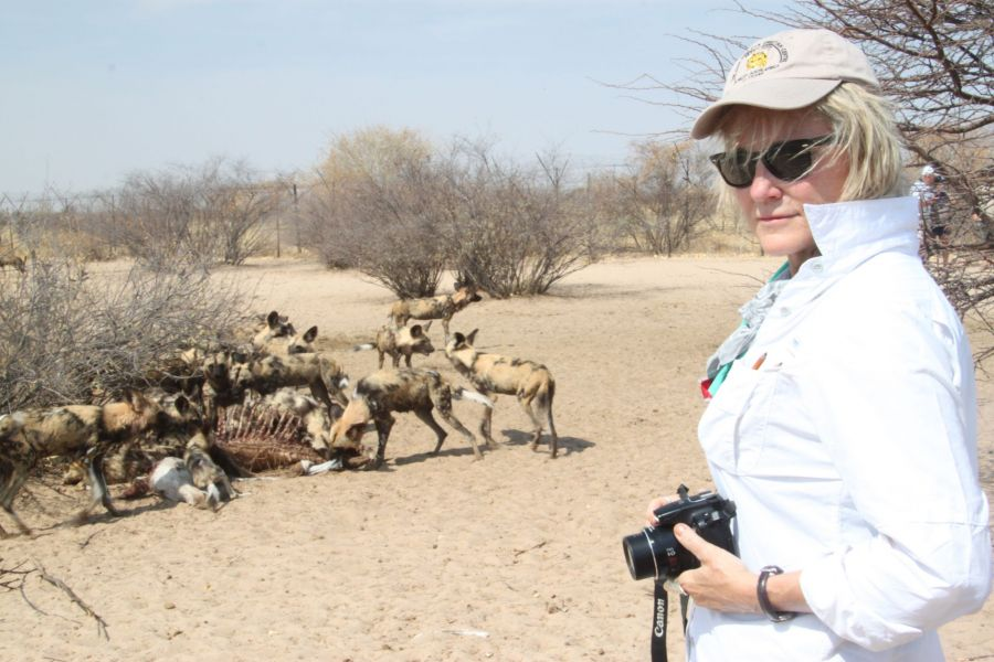 They also raise painted dogs and grasslands