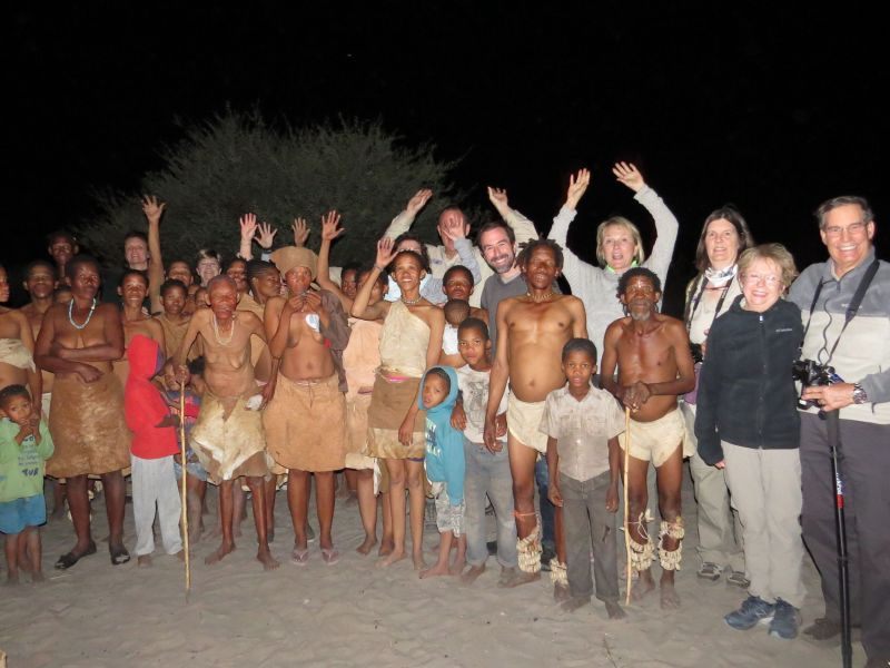 Then it was off to Botswana to visit our bushman friends-Sharing a dinner with the bushman is always magical