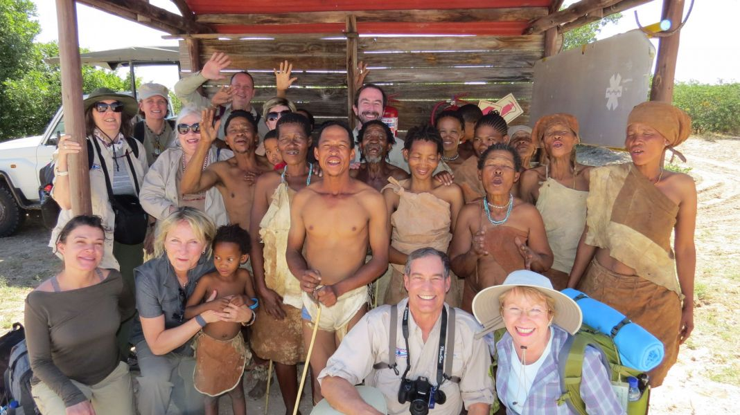 When we left the bushmen came to say goodbye