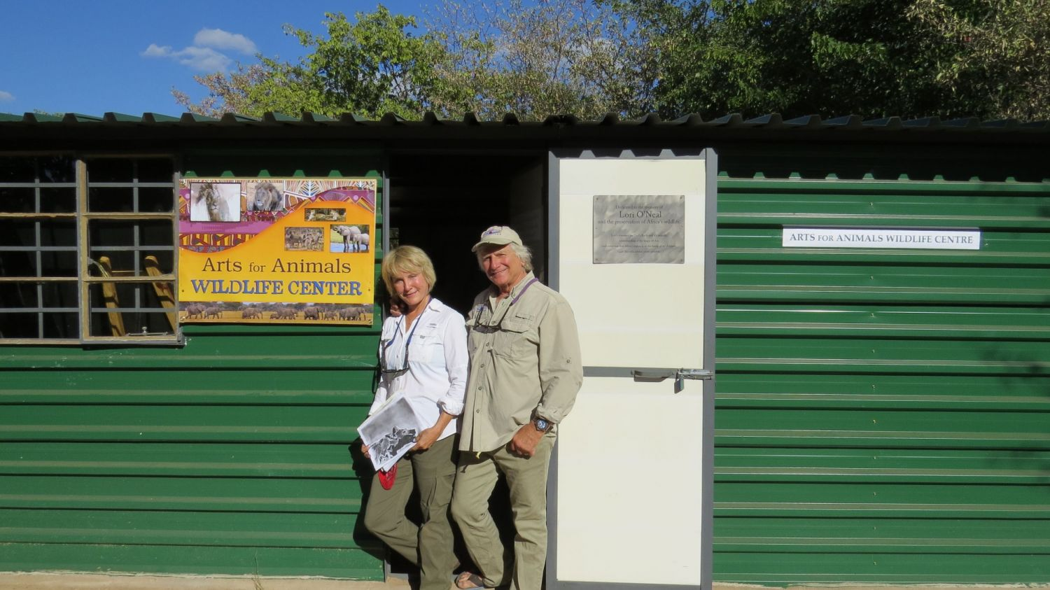 The high point of our summer was opening our new wildlife center in Victoria Falls