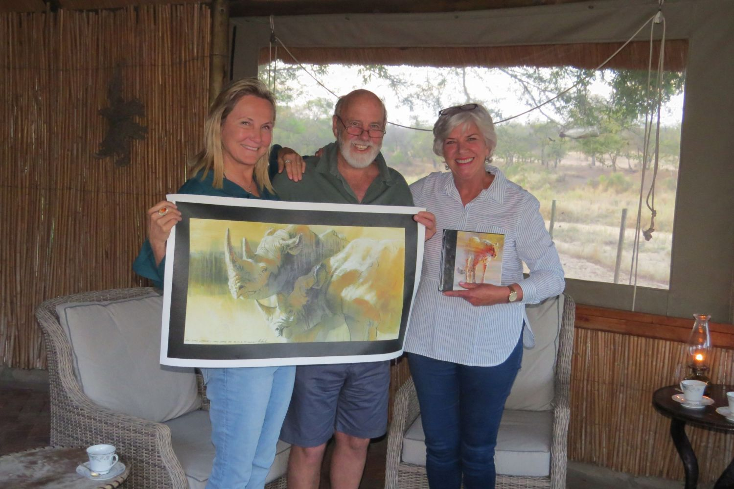 While in South Africa we met Charles and Inga Devillers